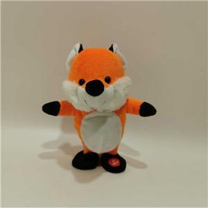 Smart Stuffed Fox Toy Can Talk And Walk