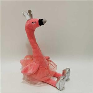 Plush Speaking Flamingo With Ballet Skirt Gift