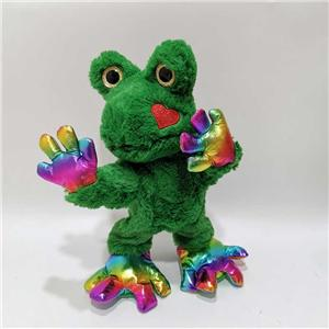 Valentine Gift Plush Singing And Kissing Frog Toy