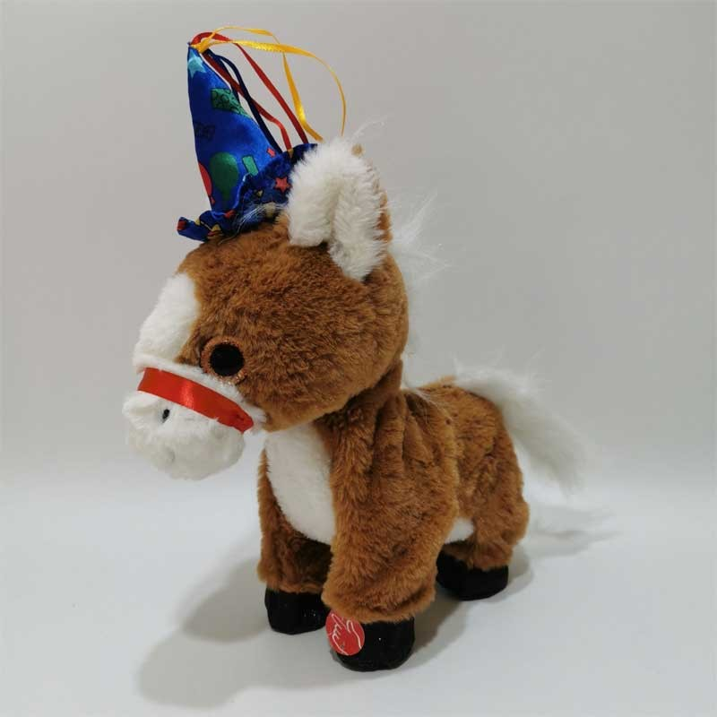 Holiday Plush Singing And Dancing Horse Toy