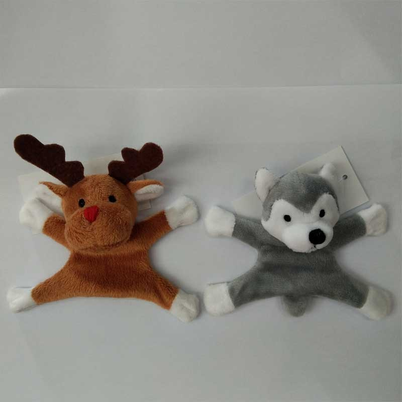 Plush Reindeer And Husky Plush Fridge Magnet