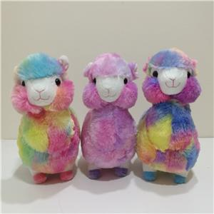 Cute Llama Stuffed Soft Colorful Alpaca Toy
