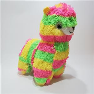 Llama Long Fur Neon Color Plush Toy
