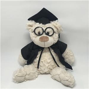 Plush Gradute Teddy Bear With Glasses