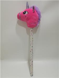 Unicorn Head Blingbling Stick Children's Plush Toy Gift