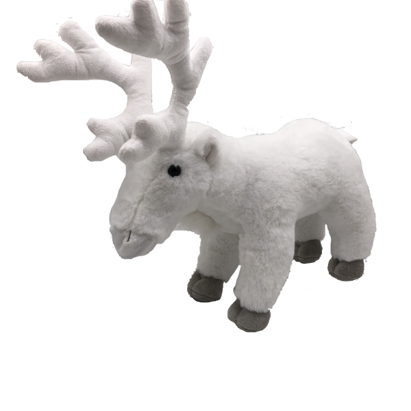 Lifelike Plush White Reindeer Toys