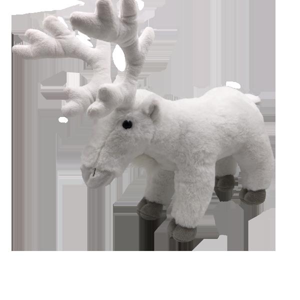 plush white reindeer toys