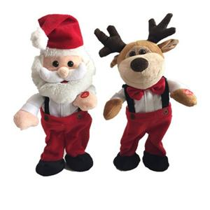 X''mas Plush Singing Santa y renos con movimiento