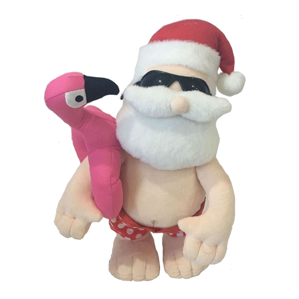 Plush Summer Plush Santa With Swim Ring Pants