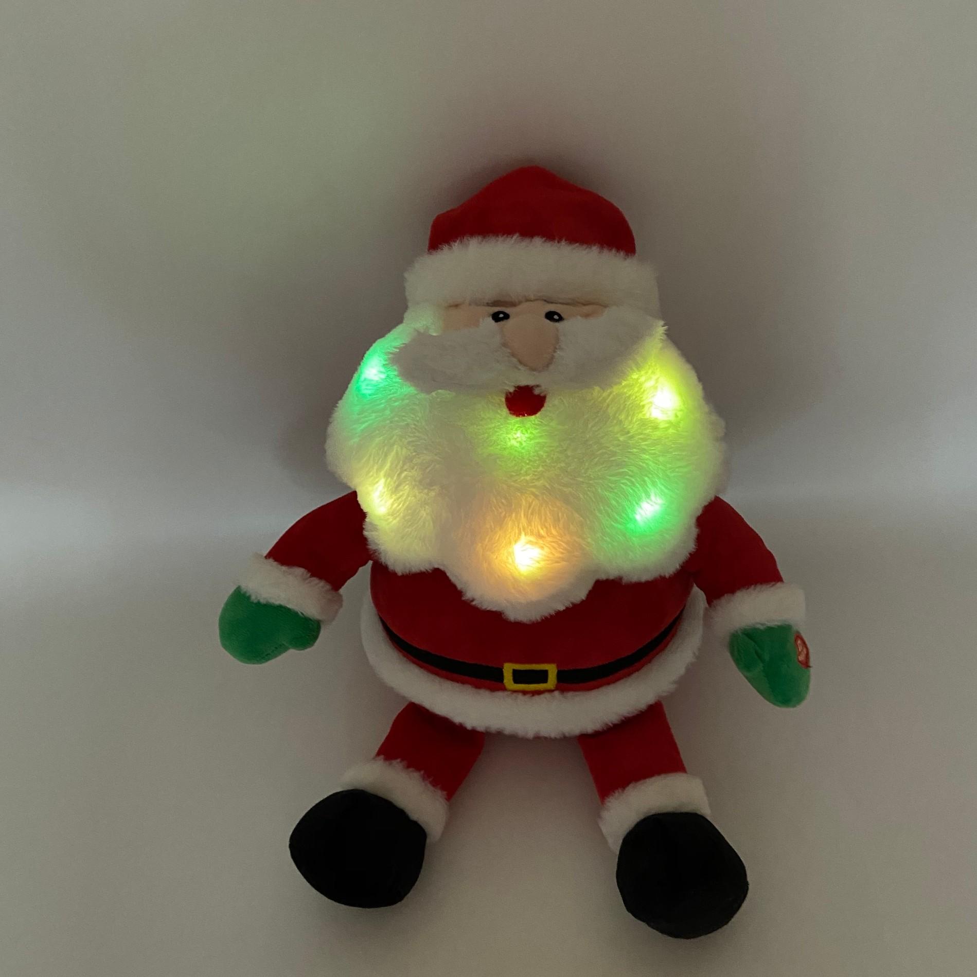 Plush Santa And Reindeer With LED Lights Manufacturers, Plush Santa And Reindeer With LED Lights Factory, Supply Plush Santa And Reindeer With LED Lights