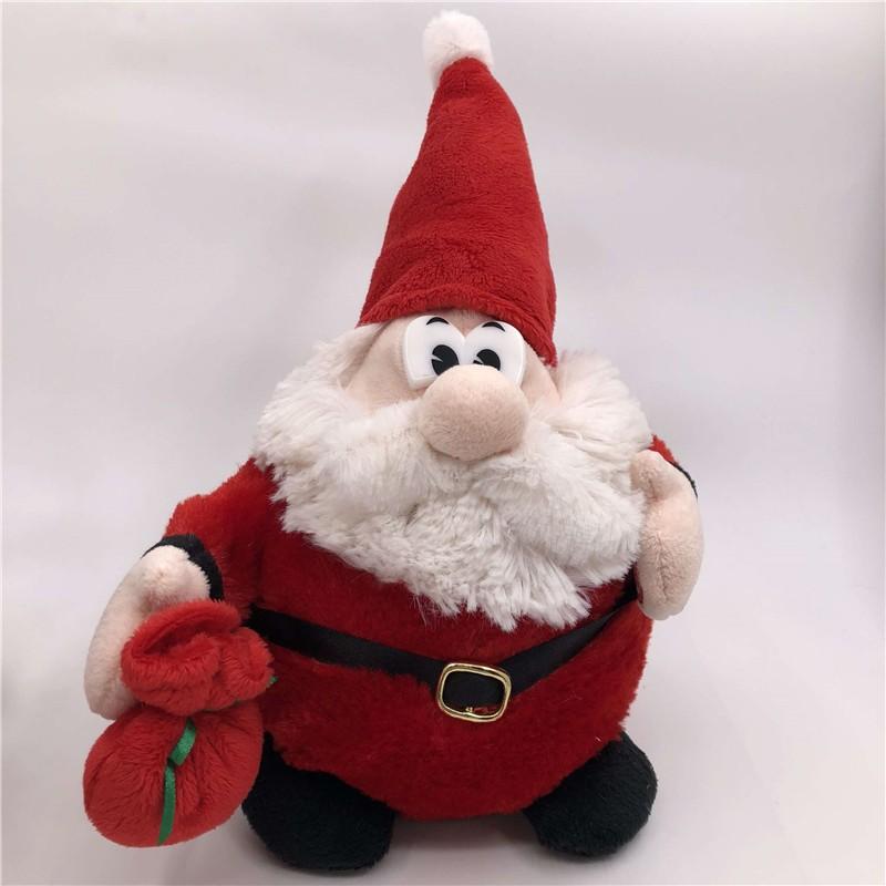 Spinning Santa And Reindeer Round Plush Toy