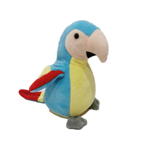 Speaking Plush Parrot With Wings Movement