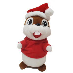 Stuffed Chipmunk Toy Can Repeat Your Voice