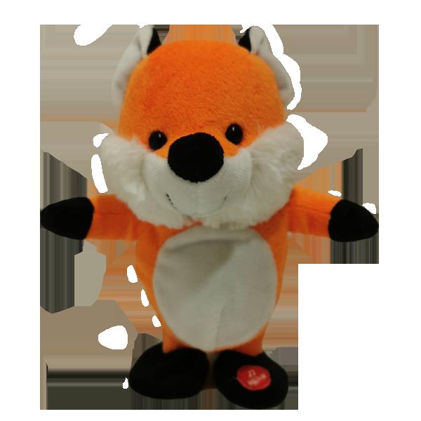 умная мягкая игрушка лиса может говорить и ходить