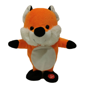 Smart Stuffed Fox Toy Can Talk And Walk