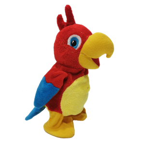 Plush Talking Parrot Cute Bird Toy