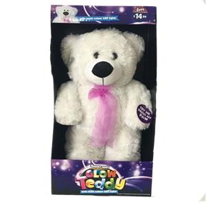 Juguete lindo oso de peluche grande con luces cambiantes