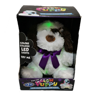 Stuffed Glow Dog Toy With Changing Colors Led Lights