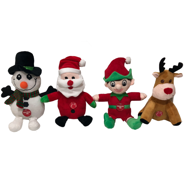 Soft Santa Elf Reindeer Toy With Lights And Music