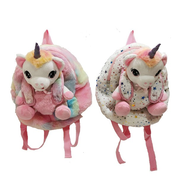 Plush Backpack And Unicorn Toy Set With New Material