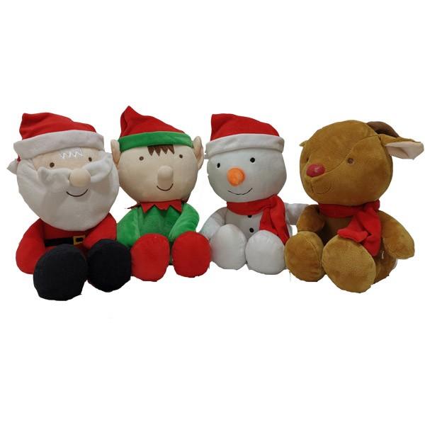 Christmas Santa Elf Snowman Reindeer Plush Toys