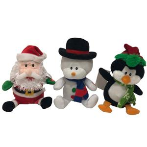 Plush Singing And Shaking Head Santa Snowman Penguin