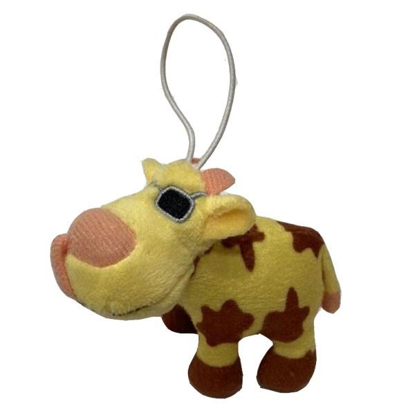 Jouet de vache en peluche avec porte-clés