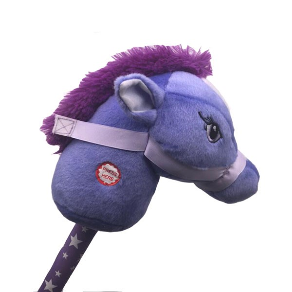 Boy's Plush Gift Stick Horse With Sound
