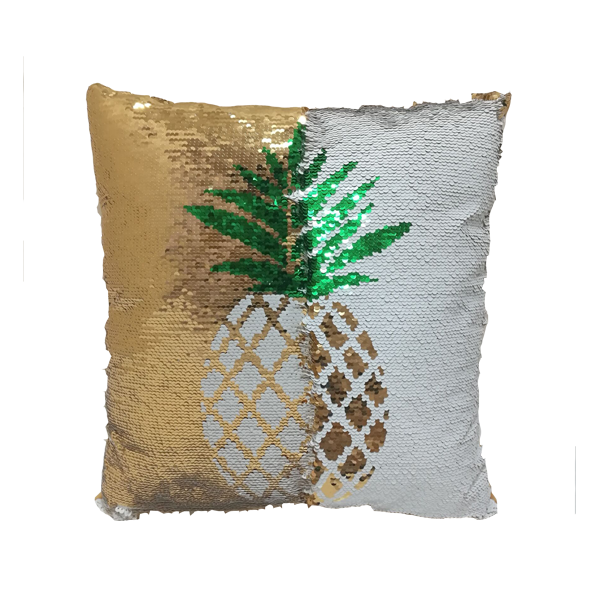 Reversible Sequins Pineapple Cushion