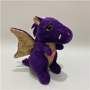 OEM talking dinosaur plush toy blingbling glitter dragon soft toy