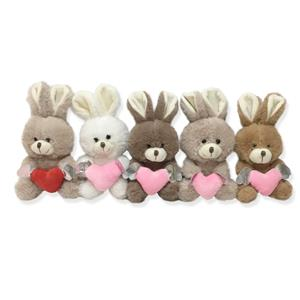 China factory OEM Plush Rabbit with heart Toys Valentine's day gift