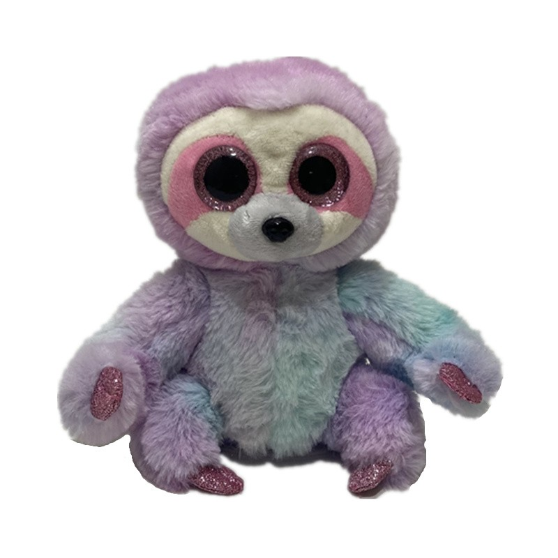 OEM Animated talking back toy Voice repeating and shaking tie dye sloth plush toy