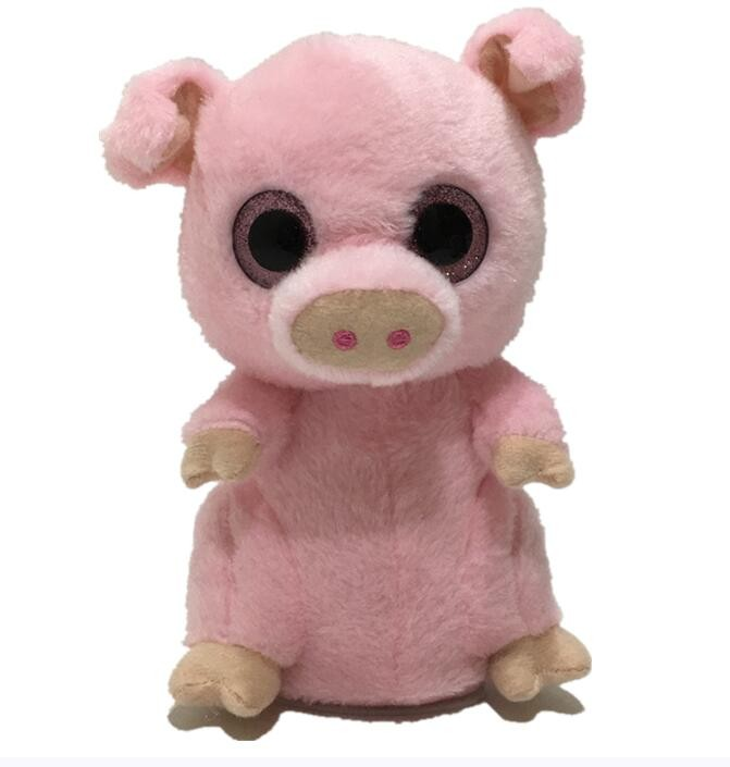 OEM Animated talking back toy Voice repeating and shaking pig plush toy