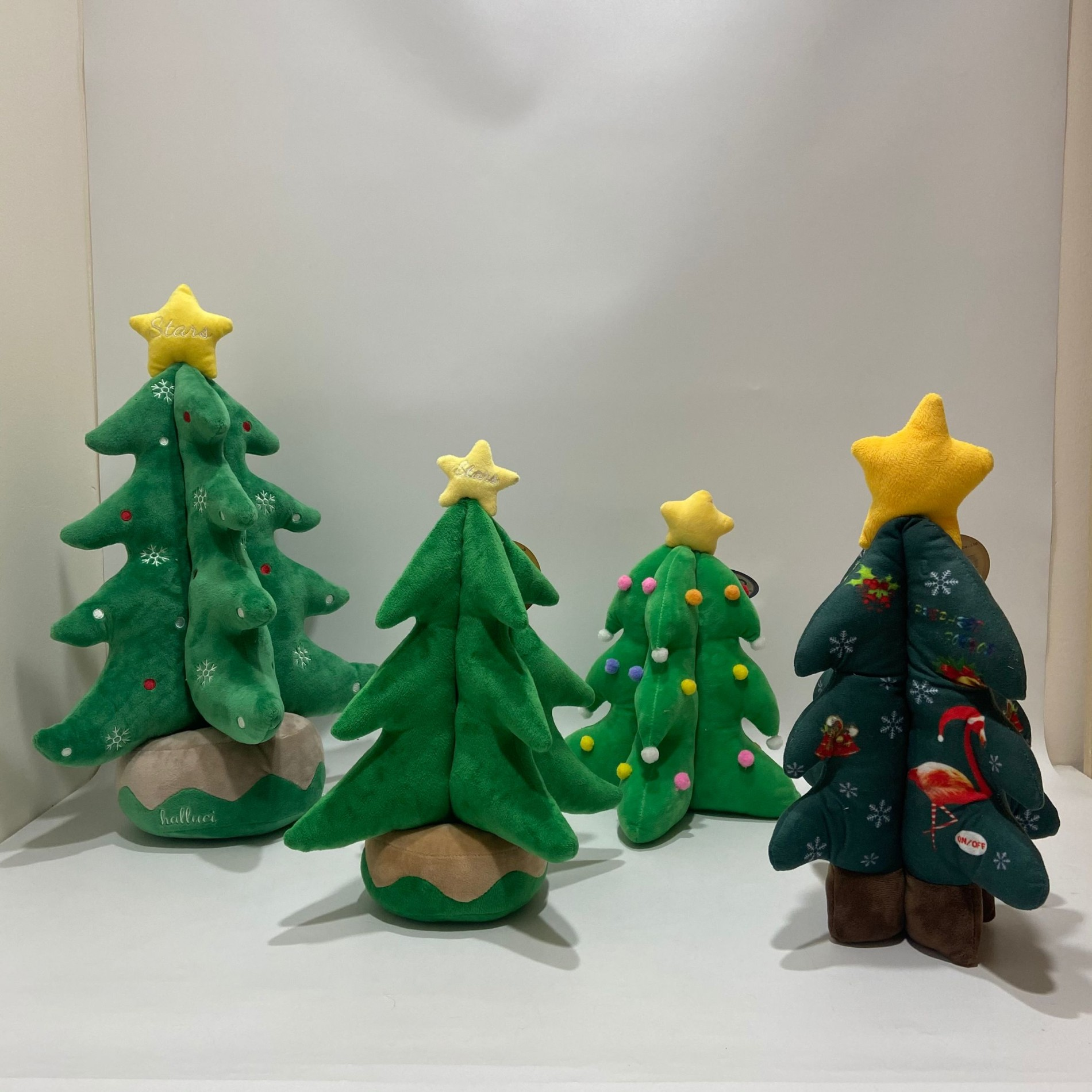2021 new Wholesale OEM XAMS Musical led lighting Plush tree