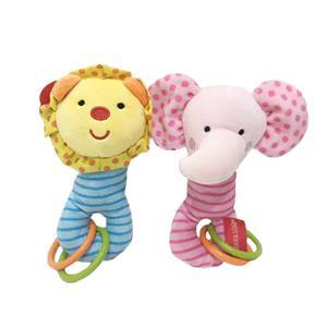 Lion&Elephant Ruddle Baby Plush Toy