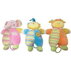 3 Asstd Animal Cuddle Baby Plush Toy with Music Box