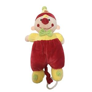 Clown Cuddle Baby Plush Toy with Music Box