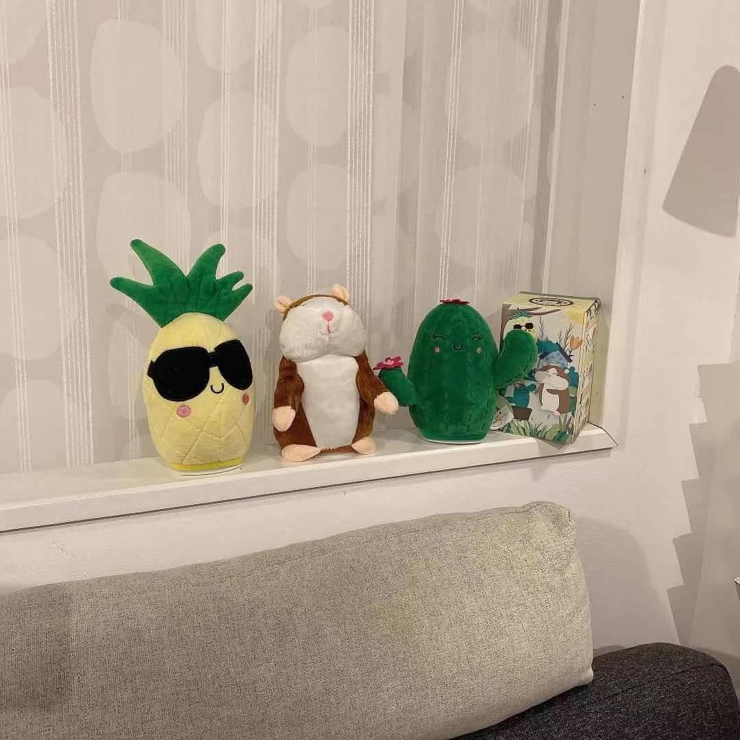 Plysch Söt Kaktus Talande Leksak