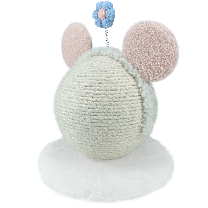 New Adorable Sisal Scratching Globe with Pink Headband