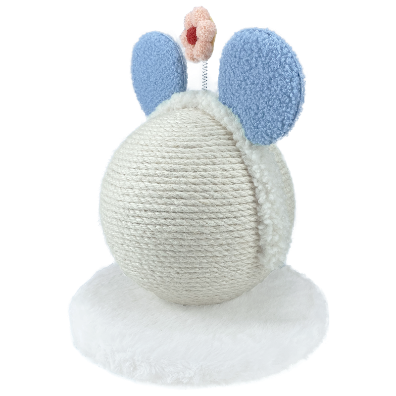 New Adorable Sisal Scratching Globe with Blue Headband