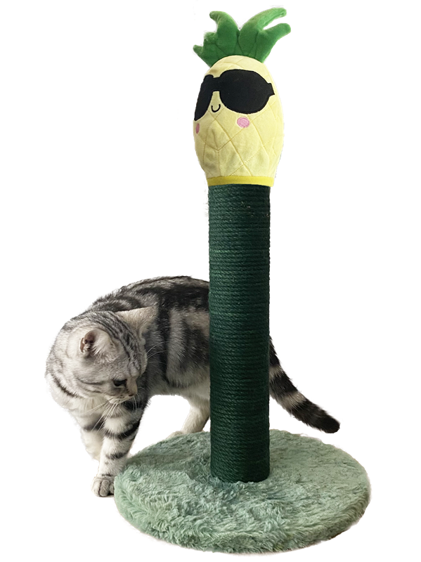 New Cute Sisal Scratching Post with Pineapple