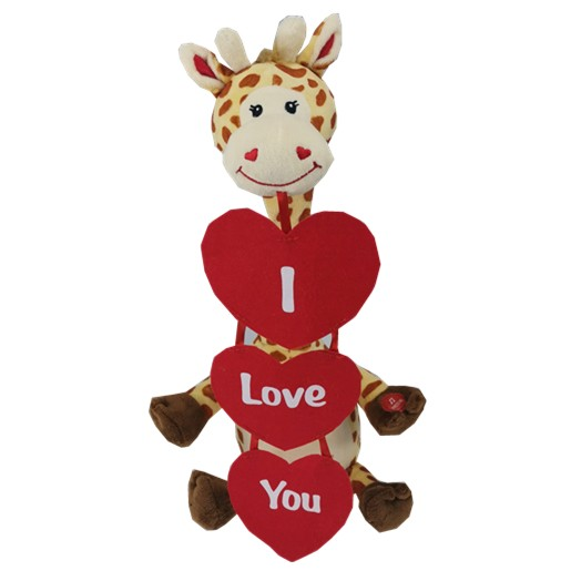 Singing Giraffe With Heart-Shaped Cards