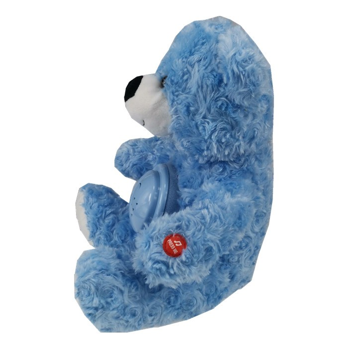 Blue Teddy Bear with Bell & Projection Lamp