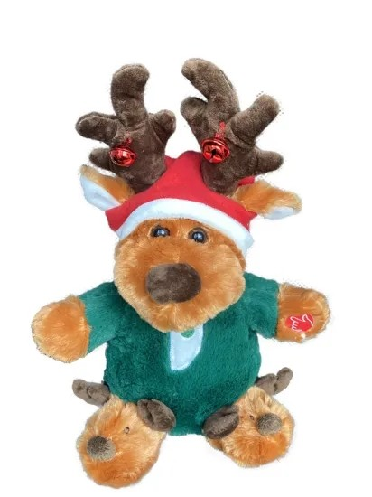 Hot Selling Christmas Gift Musical dancing Reindeer with bell
