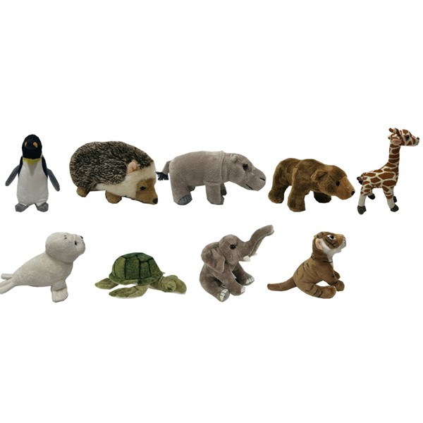 9 ASSTD Reclaimed Animal Toys