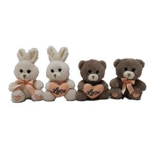 イースターデーのための2つのCLRウサギとクマ