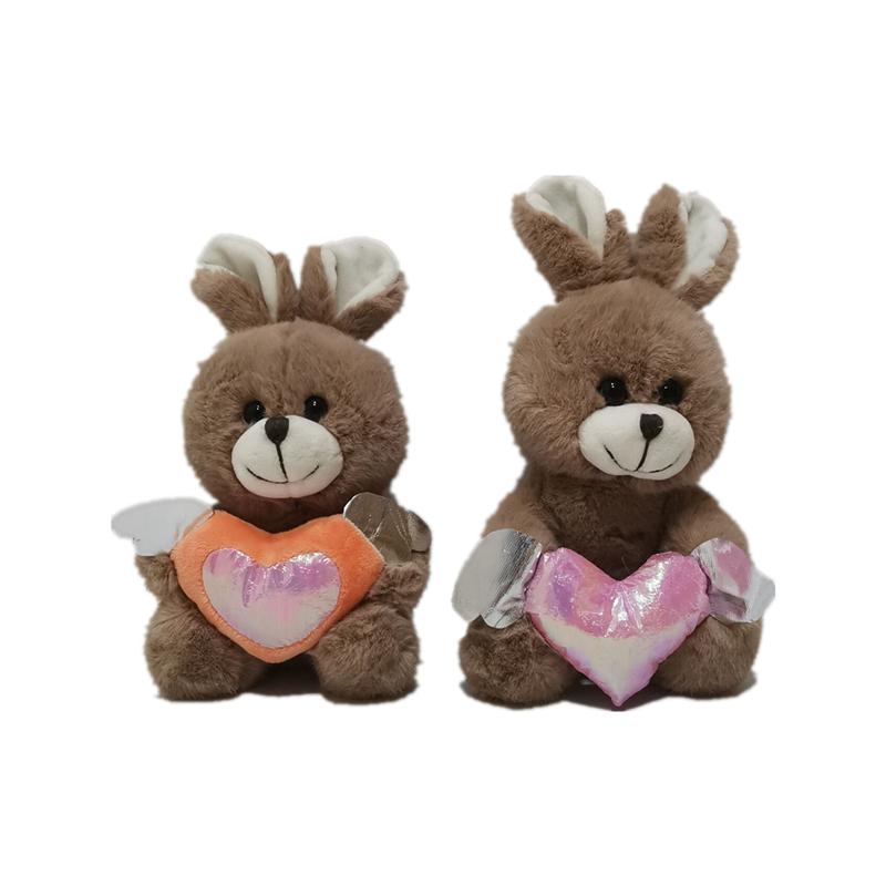 2 beren met hart voor Paasdag
