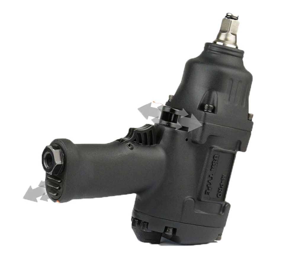 Die Cast Aluminum Air Impact Wrench Tool For Car Wheel Repairing