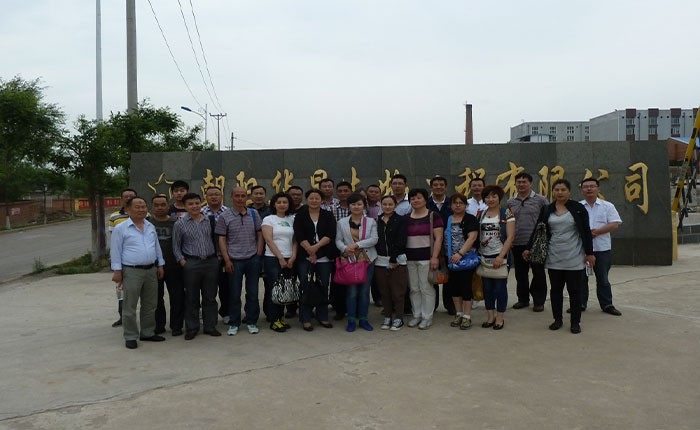 Customers visit the factory