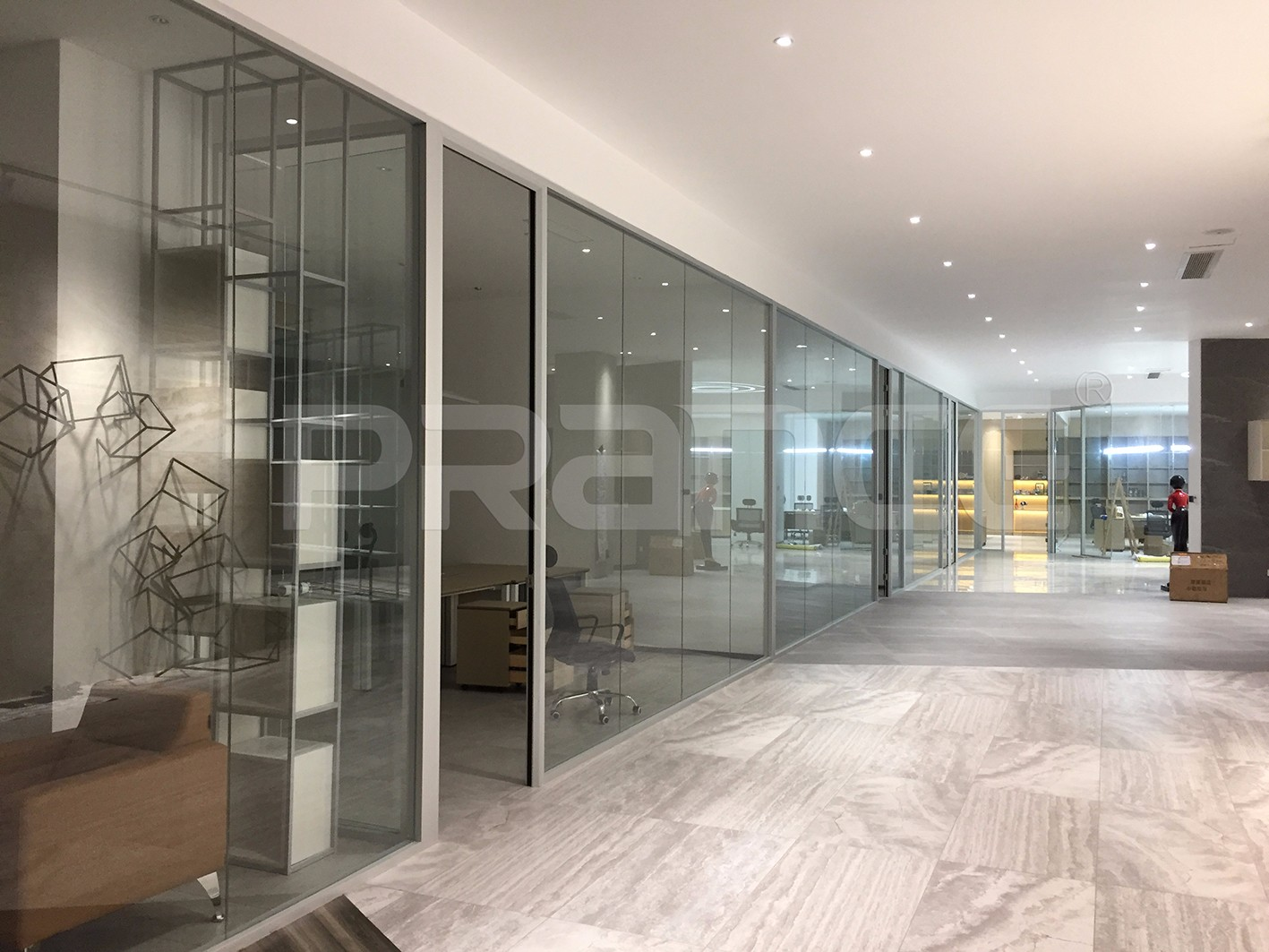Glass partition project